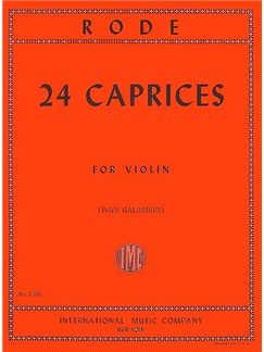 Jacques Rode: 24 Caprices For Solo Violin Books | Violin