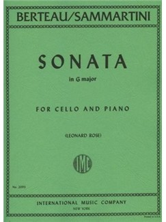 Martin Berteau/ Giovanni Sammartini: Sonata In G For Cello And Piano Books | Cello, Piano Accompaniment