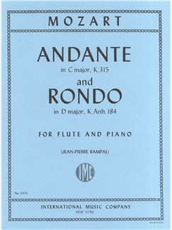 W.A. Mozart: Andante In C K 315/Rondo In D K Anh184 Books | Flute, Piano Accompaniment