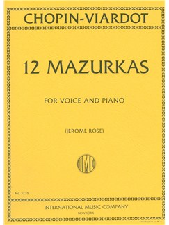 Frederic Chopin: 12 Mazurkas Books | Voice, Piano Accompaniment