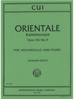 Cesar Cui: Orientale - Kaleidoscope Op.50 No.9 - Cello And Piano Books | Cello, Piano Accompaniment