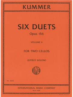 Kummer: Six Duets - Op.156 Volume II For Two Cellos Books | Cello