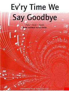 Cole Porter: Ev'ry Time We Say Goodbye Books | Piano, Voice and Guitar