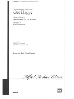 Harold Arlen/Ted Koehler: Get Happy (SATB) Books | SATB, Piano Accompaniment