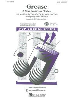Grease: A New Broadway Medley (SATB) Libro | SATB, Acompañamiento de Piano(Diagramas)
