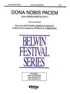 W.A. Mozart: Dona Nobis Pacem (SSA) Books | SSA, Piano Accompaniment