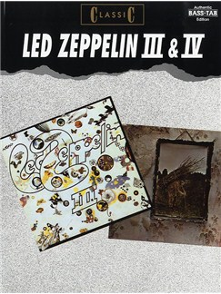 Led Zeppelin 3 & 4 Books | Bass Guitar Tab (with Chord Symbols)