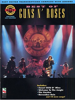 Best Of Guns N' Roses: Easy Guitar Recorded Versions Books | Melody Line, Lyrics, And Chord Symbols