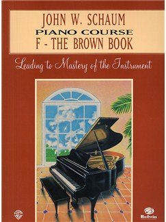 Piano Course, F The Brown Book, Schaum Books | Piano