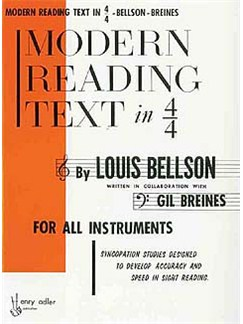 Modern Reading Text In 4/4 Books | All Instruments