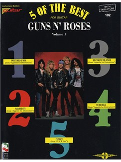 Five Of The Best For Guitar - Guns N' Roses Volume One Books | Electric Guitar Tab