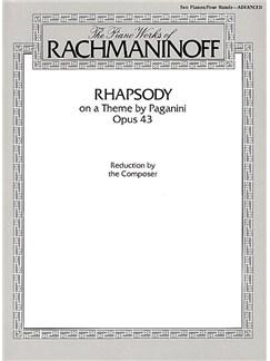 Sergei Rachmaninov: Rhapsody On A Theme By Paganini Op.43 (Two Piano Score) Books | Two Pianos