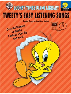 Looney Tunes Tweety's Easy Listening Songs (Book/CD/MIDI) Elementary Level One Books, CD-Roms / DVD-Roms and CDs | Piano