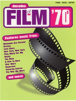 Decades Of Film: 70's Libro | Piano, Voz y Guitarra