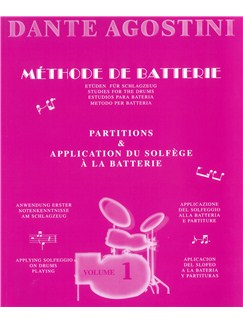 Agostini, Dante: Methode De Batterie - Studies For The Drums - Solfege Batterie Volume 1 Books | Drums