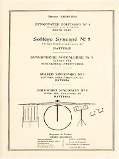 Dante Agostini: Solfège Syncopé - Syncopated Solfeggio - No.1 Books | Drums
