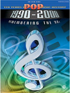 10 Years Of Pop Music History The Blue Book 1990-2000 Books | Piano, Voice and Guitar