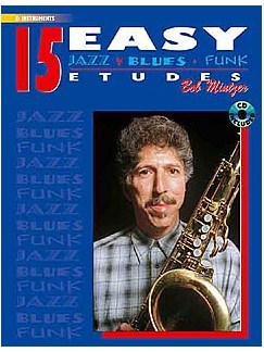 15 Easy Jazz Blues Funk Etudes, E Flat Instruments Books | E Flat Instruments