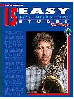 15 Easy Jazz Blues Funk Etudes Bb Trumpet/Clarinet (Book/Cd) Books and CDs | B Flat Instruments