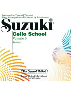 Suzuki Cello School: Volume 6 (CD) CDs | Cello