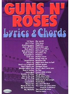 Guns N' Roses: Lyrics & Chords Libro | Textos y Acordes