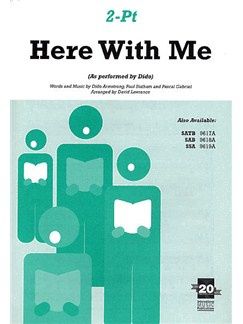 Dido: Here With Me (2 Part) Books | 2-Part Choir, Piano Accompaniment