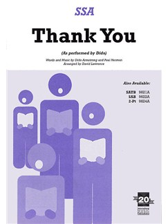 Dido Armstrong And Paul Herman: Thank You (SSA) Books | SSA