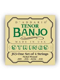 D'addario: J63 Tenor Banjo String Set - Nickel Wound  | Banjo