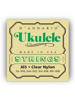 D'addario: J65 Soprano Ukulele String Set - Clear Nylon  | Ukulele