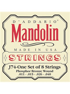 D'Addario: Medium Mandolin Strings  | Mandolin