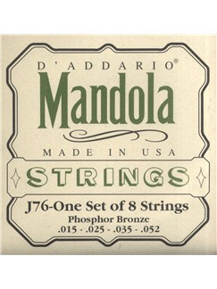 D'Addario: Mandola Strings - Phosphor Bronze  | Mandolin