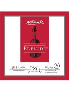 D'Addario: Prelude Violin Single A String - 4/4 Scale (Medium Tension)  |