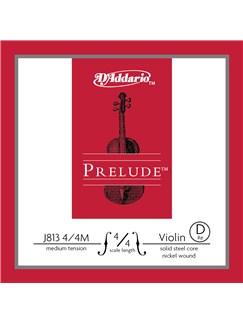D'Addario: Prelude Violin Single D String - 4/4 Scale (Medium Tension)  |