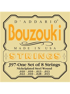 D'Addario: J97 Bouzouki Strings - Nickelplated/Steel Wound  | Bouzouki