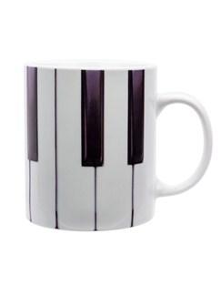 Live Fast Dine Young: Piano Mug  |