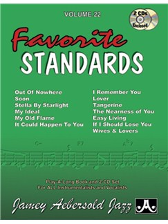 Jamey Aebersold Volume 22 Favourite Standards Books and CDs | All Instruments