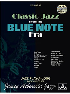 Aebersold Volume 38: Blue Note Jazz Era Books and CDs | Piano, Vocal & Guitar