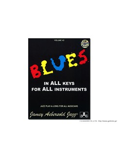 Aebersold Vol. 42: Blues in all Keys CD et Livre | Piano, Chant et Guitare