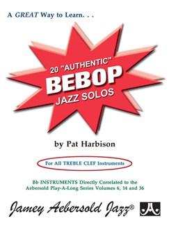 Pat Harbison: Twenty Authentic Bebop Jazz Solos Books | Treble Clef Instruments