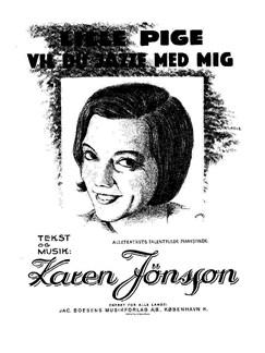 Karen Jønsson: Lille Pige Vil Du Jazze Med Mig Bog | Klaver og sang