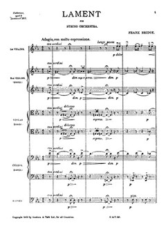 Frank Bridge: Lament (Score) Books | String Orchestra