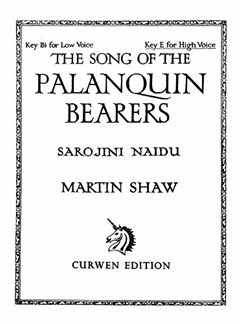 Shaw, M The Song Of The Palanquin Bearers High Voice/Piano  | Klavier, Gesang