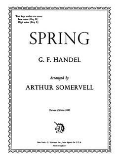 G.F. Handel: Spring (D+E) Voice/Piano Books | Voice, Piano