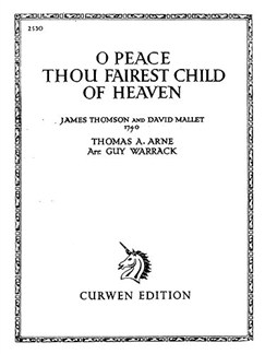 Arne, T O Peace Thou Fairest Child Of Heaven Voice/Piano Buch | Klavier, Gesang