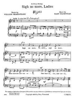 Plumstead Sigh No More Ladies V/P    Klavier, Gesang