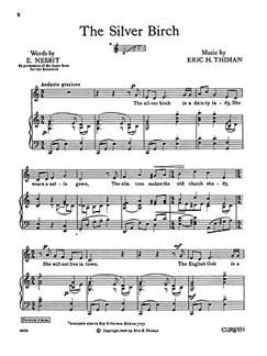 Thiman, E The Silver Birch Voice And Piano  | Piano, Voice