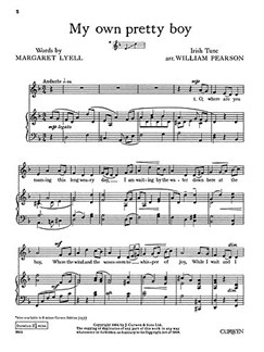 Pearson, W My Own Pretty Boy D Minor+g Minor Voice/Piano  | Klavier, Gesang