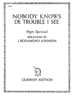 Johnson, J Nobody Knows De Trouble I See Voice And Piano  | Piano, Voice