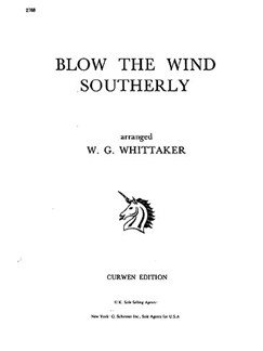 W. G. Whittaker: Blow The Wind Southerly (Voice And Piano) Libro | Piano, Voz