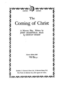 Holst: Coming Of Christ (Vocal Score) Books | Choral